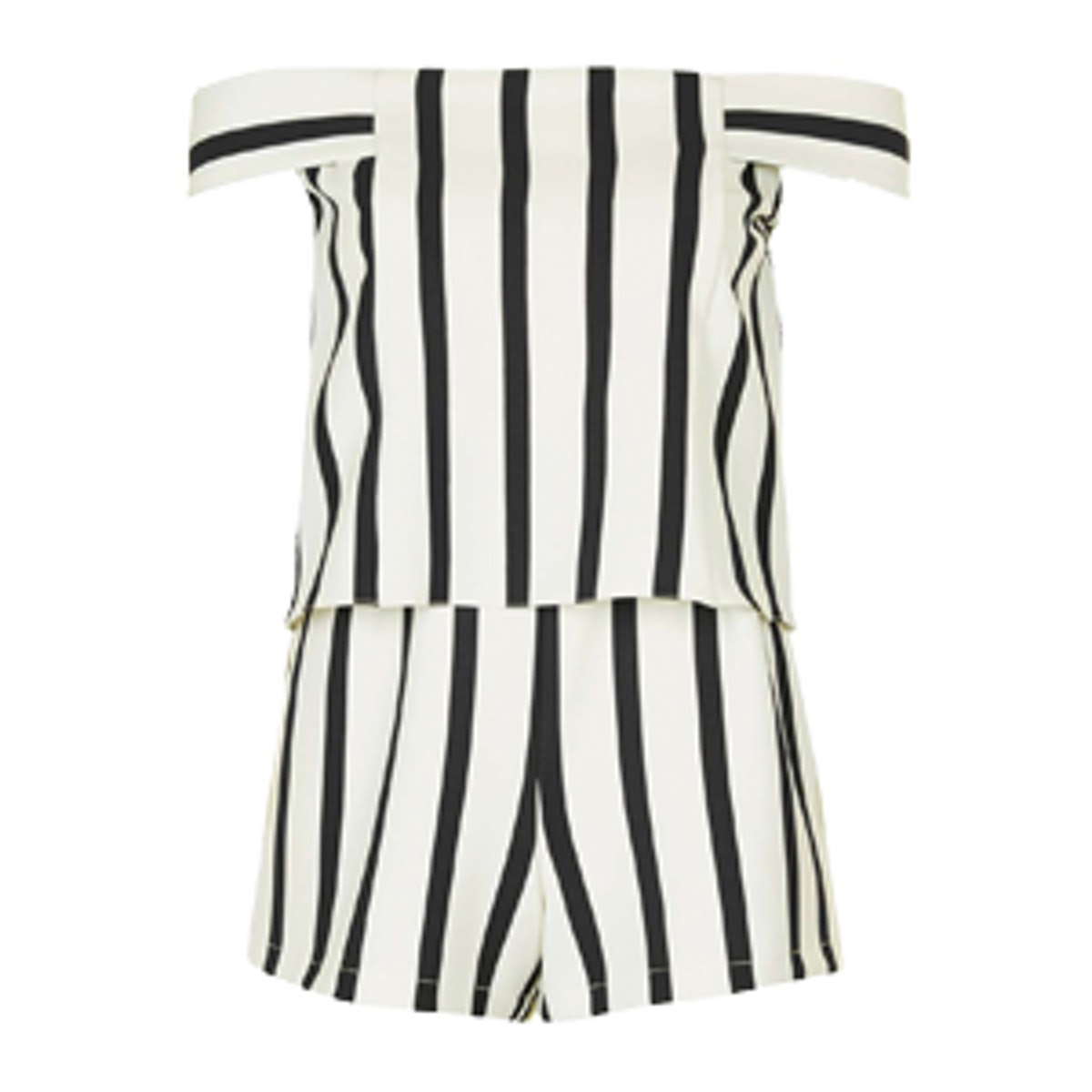 Stripe Bardot Playsuit