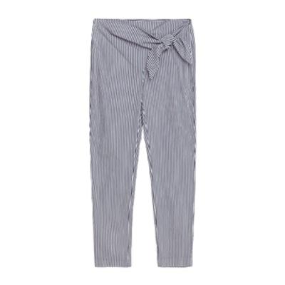 Striped Poplin Trousers