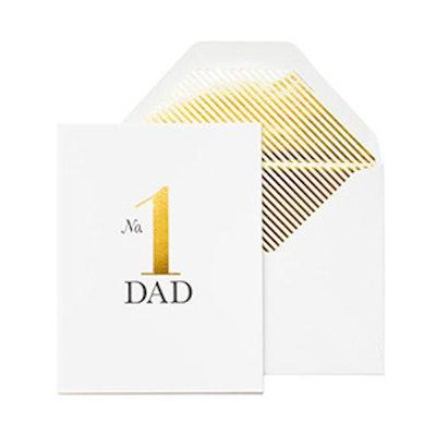 No.1 Dad Card