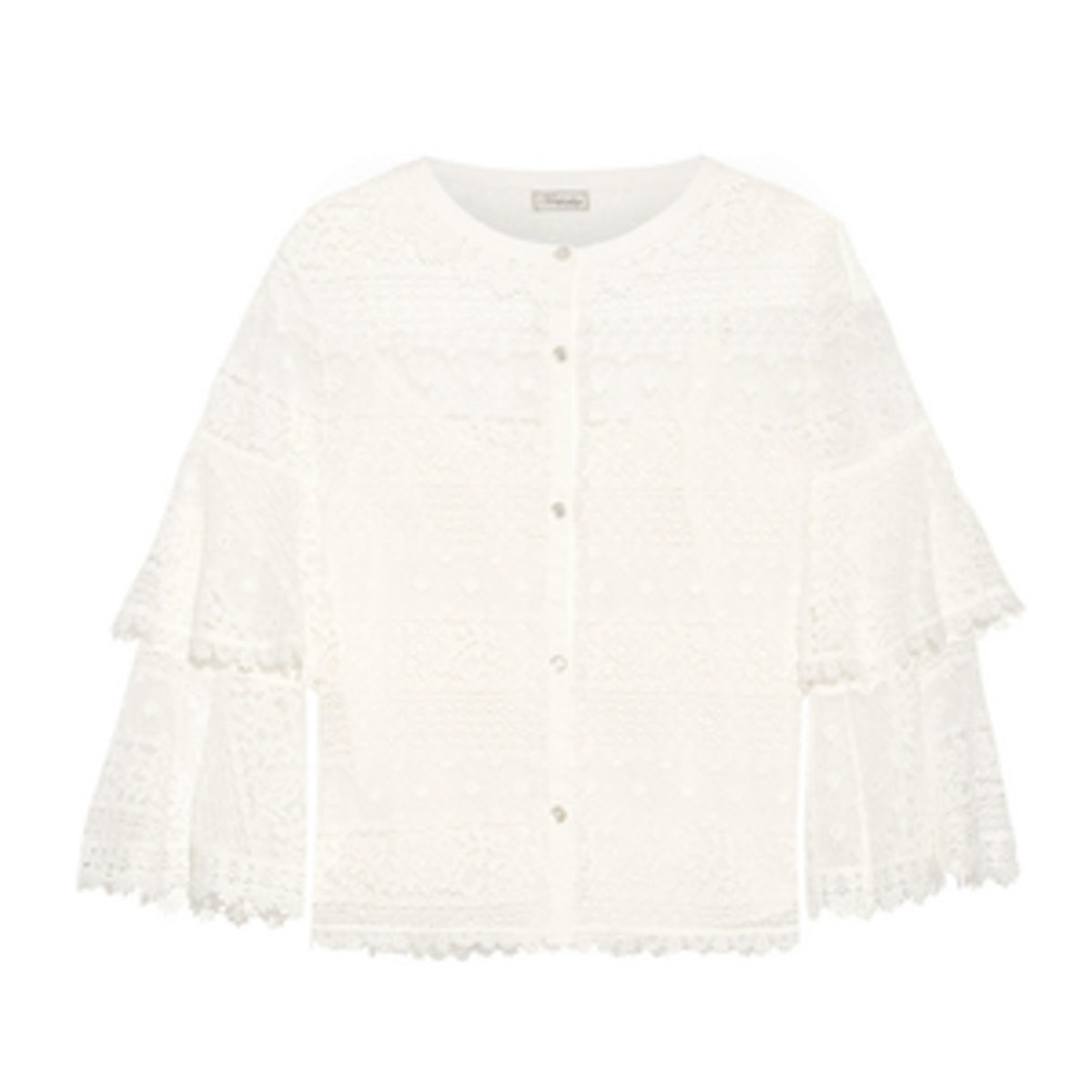 Desdemona Paneled Guipure Lace Top