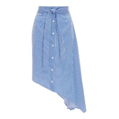 Striped Asymmetric Skirt