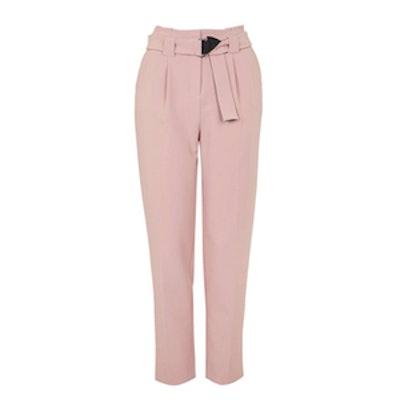 Grosgain Belted Peg Trousers