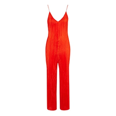 Slouch Fit Pleated Jumpsuit