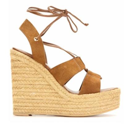 Espadrille 95 Suede Wedge Sandals