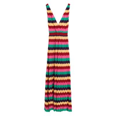 Multicoloured Striped Dress