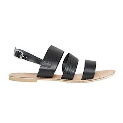 Falon Leather Flat Sandals