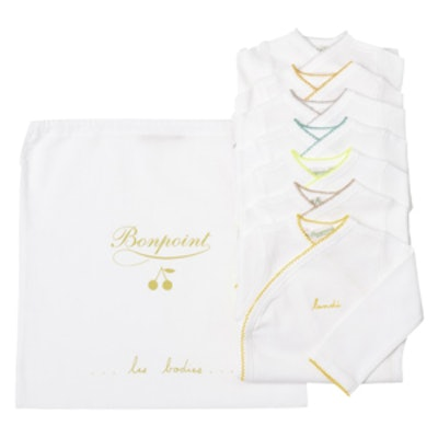 Pack of 7 Bodysuits in White