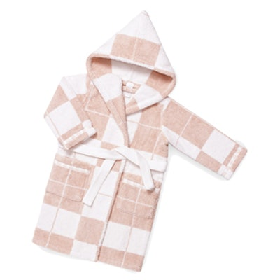 Avalon Baby Bath Robe in Jacquard Cotton