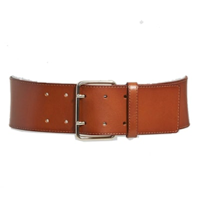 Stitched Wide Leather Belt