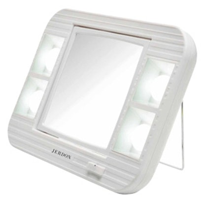 Jerdon LED Lighted Makeup Mirror with 5x Magnification