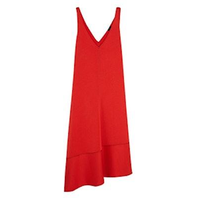 Bianca Asymmetric Crepe Midi Dress