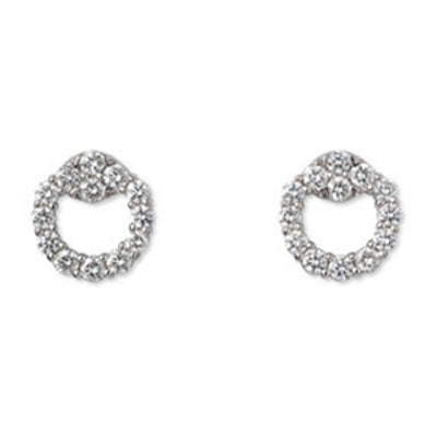 White Gold Horsebit Earrings