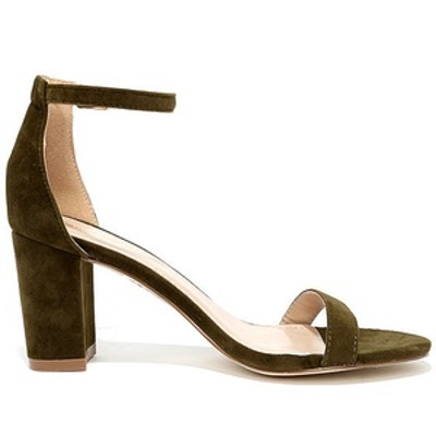 My Everything Suede Ankle Strap Heels