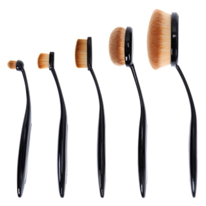 Luminous Perfecting Curve Makeup Brush Kit For Contouring Blending More