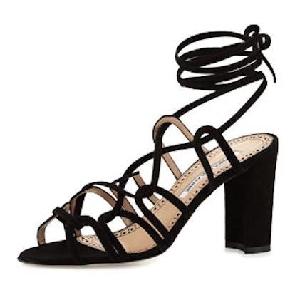 Jena Suede Lace-Up Sandal
