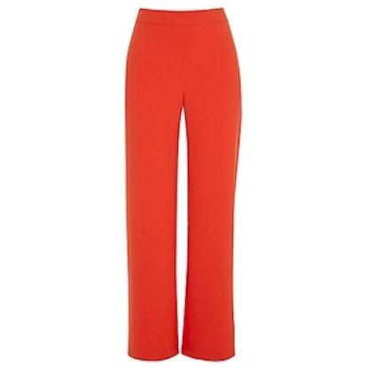 Red Wide Leg Suit Pants