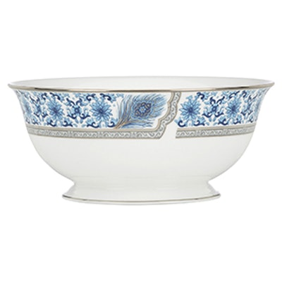 Sapphire Plume Serve Bowl
