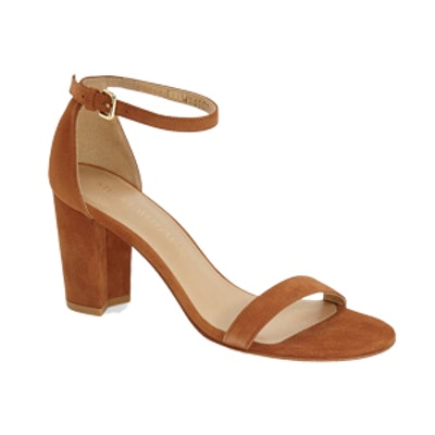 Nearly Nude Ankle Strap Sandal