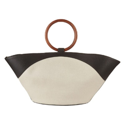 Market Canvas and Leather Tote