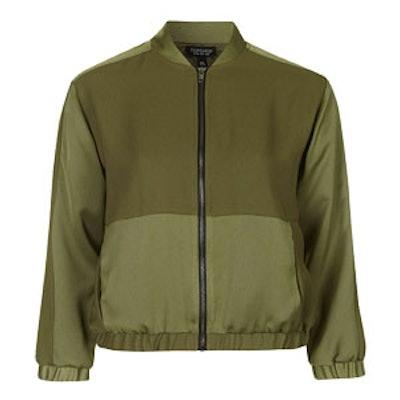 Matte Shine Bomber Jacket