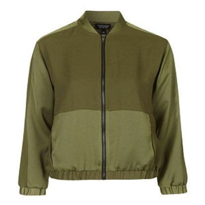 Matte Shine Bomber Jacket