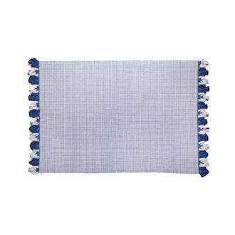 Fringed Cotton Jacquard Rug