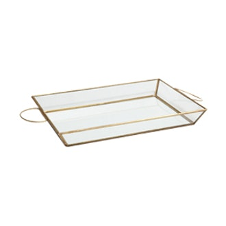 Copper Structured Crystal Tray
