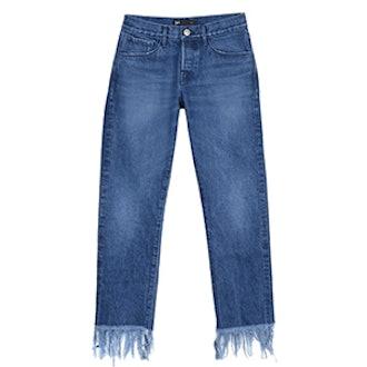 WM3 Crop Fringe Jeans