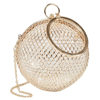 Cage Sphere Clutch Bag