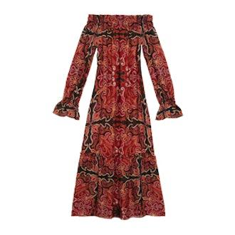 Ariania Off-The-Shoulder Midi Dress