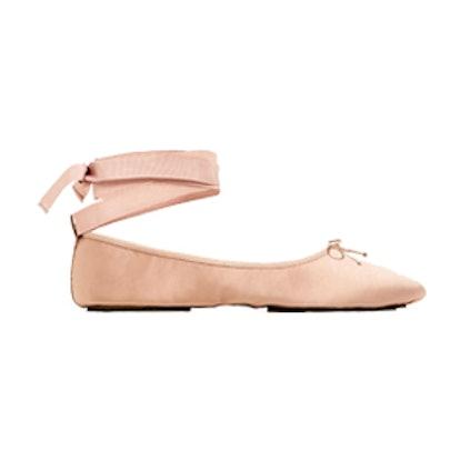 Sateen Ballet Flats