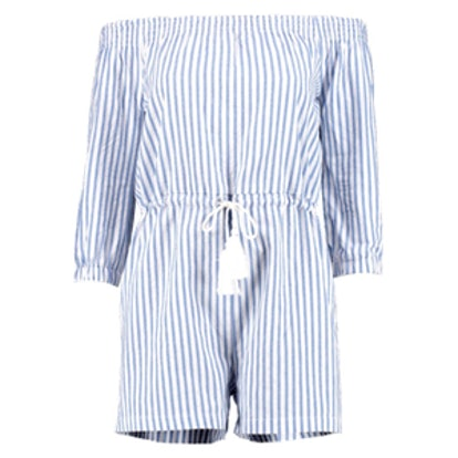 Jen Striped Off The Shoulder Playsuit