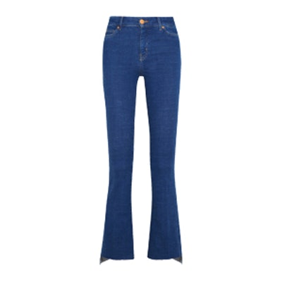 Marrakesh Cropped High-Rise Bootcut Jeans