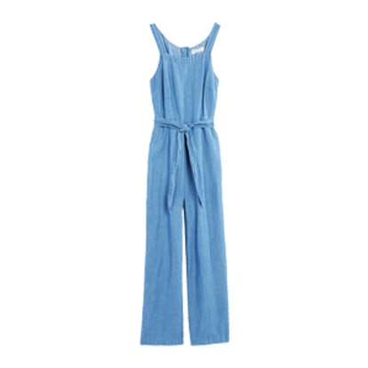 Chambray Muralist Jumpsuit
