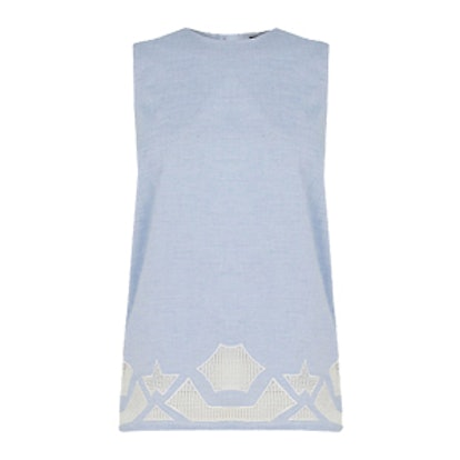Chambray Cutwork Top