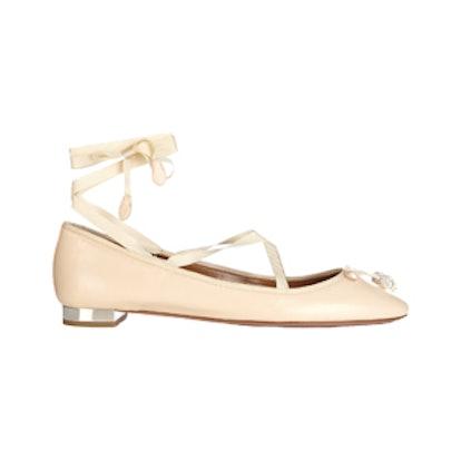 Very Ballerina Crystal-Embellished Flats