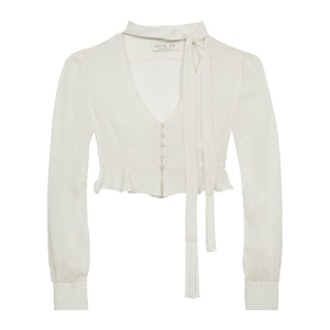 Delphine Victorian Cropped Blouse