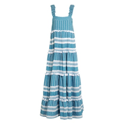 Tiered Tasseled Cotton-Gauze Maxi Dress