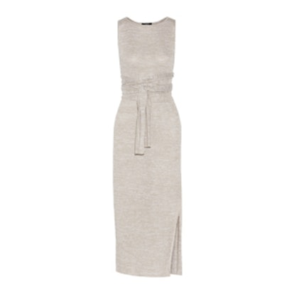 Dantine Linen-Blend Midi Dress