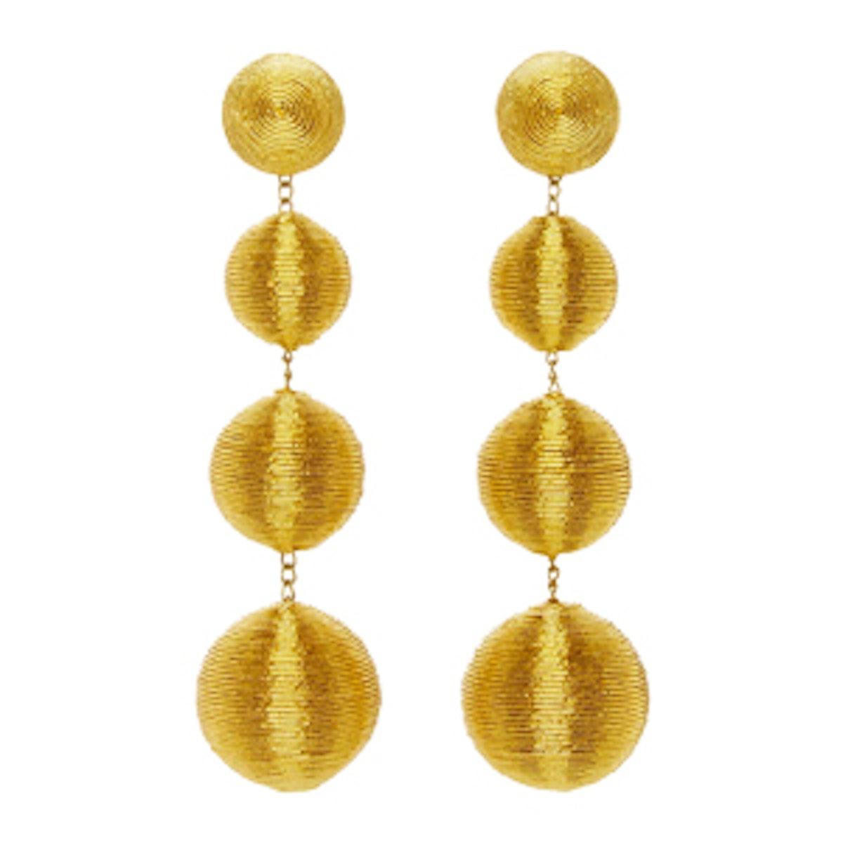 Les Bonbons Caramel Gold II Earrings