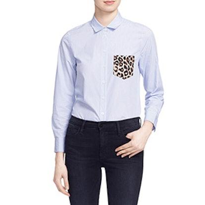 Leema Pocket Detail Stripe Cotton Shirt