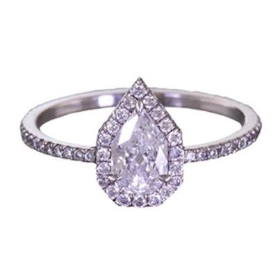 0.58 Carat Pear-Cut Diamond Ring