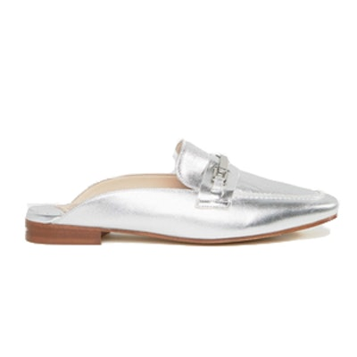 Backless Leather Loafers
