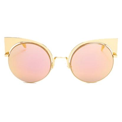 0177 Geometric Round Sunglasses