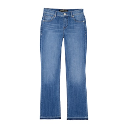 High Rise Released Hem Bell Crop Jeans