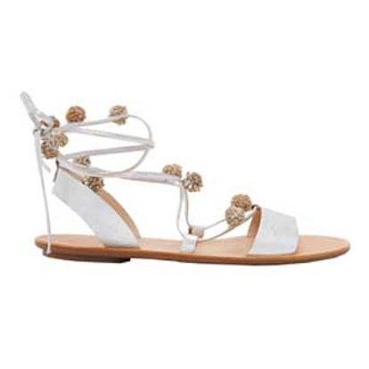 Saskia Pom Pom Lace Up Sandals