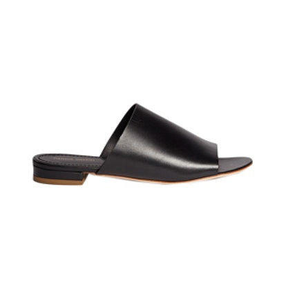 Leather Flat Mules