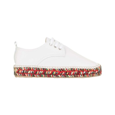 Leather Lace-Up Espadrille