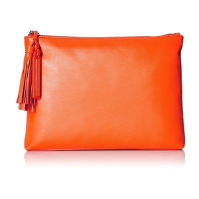 Tassel Pouch Nappa Leather Clutch