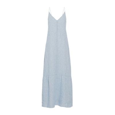 Maureen Linen-Chambray Maxi Dress